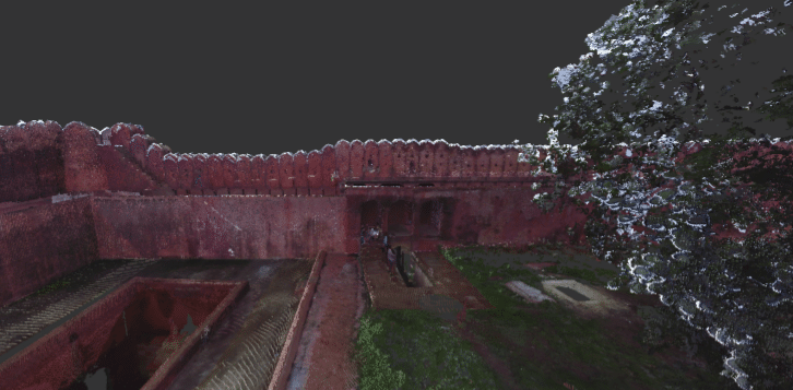 Nagardhan Fort scan to BIM